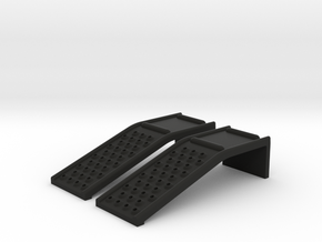 RC Car Ramp Solid Steel Auto Ramp Style 33W98L24H in Black Strong & Flexible
