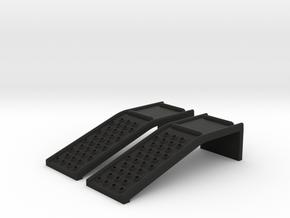RC Car Ramp Solid Steel Auto Ramp Style 33W98L24H in Black Natural Versatile Plastic