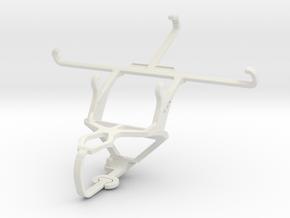 Controller mount for PS3 & Motorola Moto E3 in White Natural Versatile Plastic