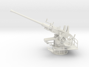 Best Cost 1/20 USN Single 40mm Bofors [Elevated] in White Natural Versatile Plastic