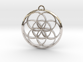 Seed Of Life in Rhodium Plated Brass: Large