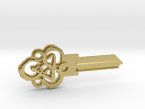 Coheed Cambria Keyway KW1 Keyblank in Natural Brass