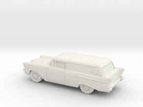 1/87 1957 Chevrolet One Fifty Delivery in White Strong & Flexible