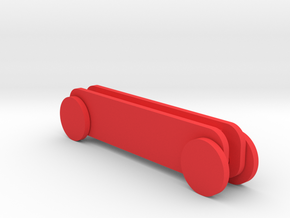 Iphone 7 Rolling Stand in Red Strong & Flexible Polished