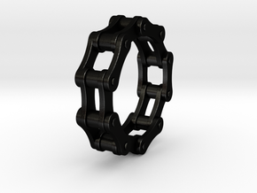 Violetta S. - Bicycle Chain Ring in Matte Black Steel: 9 / 59