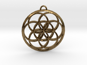 Seed Of Life in Natural Bronze: Small