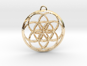 Seed Of Life in 14k Gold Plated Brass: Small