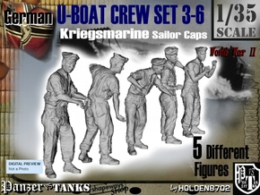 1-35 German U-Boot Crew Set3-6 in Frosted Ultra Detail