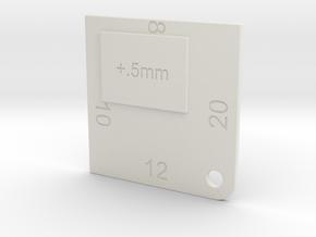 Veneer Gauge in White Natural Versatile Plastic