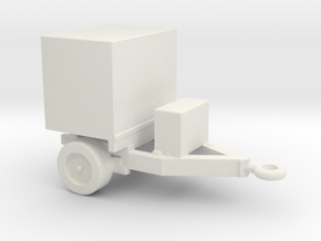 1/200 Scale Generator Trailer in White Natural Versatile Plastic