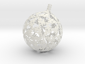 Christmas version of stereographic projection lamp in White Strong & Flexible