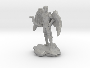 Winged Half-celestial with bow and sword in Aluminum