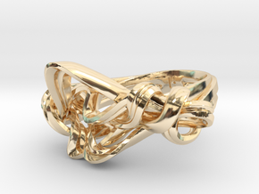 Weaving Ribbons Ring in 14K Yellow Gold: 5 / 49