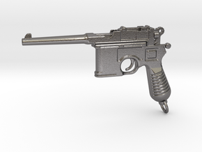 Mauser C96 Gun Paperweight in Polished Nickel Steel