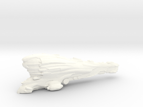 Eve online Erebus ship Titan 13cm spaceship in White Processed Versatile Plastic