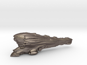Eve online Erebus ship Titan 13cm spaceship in Polished Bronzed Silver Steel