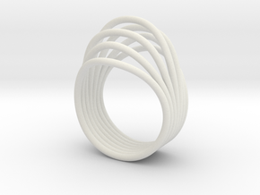 Simple bloom - ring in White Natural Versatile Plastic: 7 / 54