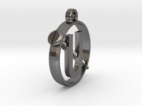 Ghostbusters - Mini Holtzmann Screw U Pendant in Polished Nickel Steel