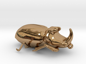 Rhinoceros-Beetle in Polished Brass: Small