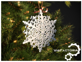 Royal Christmas Snowflake in White Natural Versatile Plastic