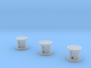 Apollo ALSEP Spool 1:16  3 Pack in Smooth Fine Detail Plastic