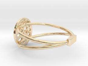 RING MAGNETIC LOBULAR in 14K Yellow Gold