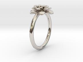 Chrysanthemum Flower Ring in Platinum: 8 / 56.75