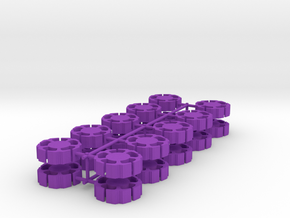 Game Piece, Clone Masters Station, 20-set in Purple Strong & Flexible Polished
