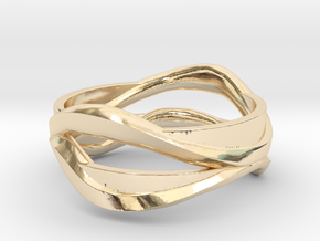 Full Dual Ring in 14k Gold Plated Brass: 5 / 49