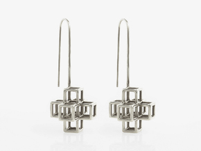 STRUCTURE Nº 2 EARRINGS in Polished Silver