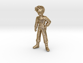 1/24 1.55 m Young Driver for Diorama in Polished Gold Steel
