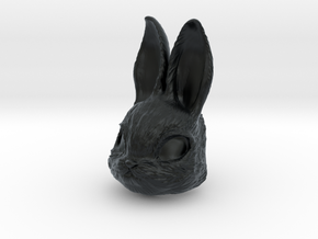 Rabbit Head in Black Hi-Def Acrylate
