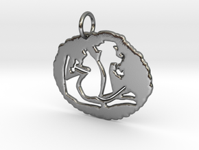 Uniquely Us Pendant--In:1.046 x / 0.987 y / 0.251  in Polished Silver
