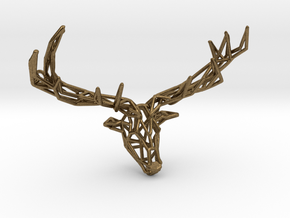 Untamed: The Deer Pendant in Natural Bronze: Small