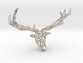 Untamed: The Deer Pendant in Platinum: Small