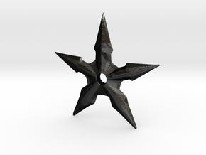 Throwing Star in Matte Black Steel