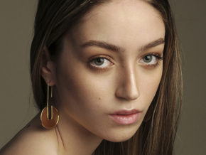 FLAT Nº 4 EARRINGS in 14k Gold Plated Brass