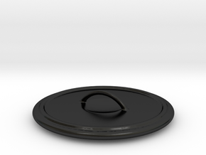 Cauldron Bowl Lid in Matte Black Porcelain