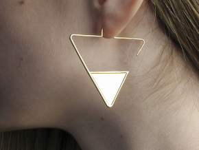 FLAT Nº 2 EARRINGS in 14k Gold Plated