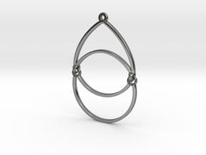 BlakOpal Open Teardrop Earring in Polished Silver (Interlocking Parts)