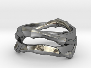 Full Dual Voronoi Ring in Polished Silver: 5 / 49