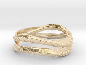 Full Dual Modern Ring in 14k Gold Plated Brass: 13 / 69