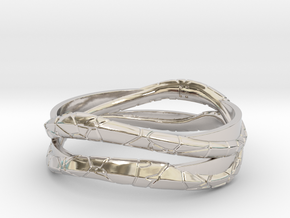 Full Dual Modern Ring in Rhodium Plated Brass: 13 / 69