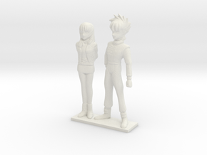 1/64 Racing Driver Couple in White Natural Versatile Plastic