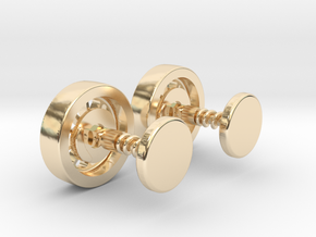 Formula 1 Wheel cufflinks in 14K Yellow Gold