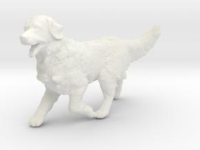 1/24 Running Golden Retriever Male in White Natural Versatile Plastic