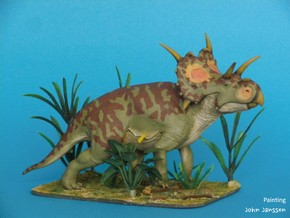 Xenoceratops (Small/Medium/Large size) in White Strong & Flexible: Medium