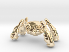 Metagross in 14k Gold Plated Brass