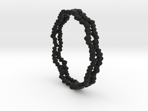 Bracelet Nigella Karla in Black Natural Versatile Plastic: Large