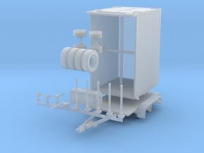 H0 1:87 Tandem-Kühlkofferanhänger für PKW in Smooth Fine Detail Plastic